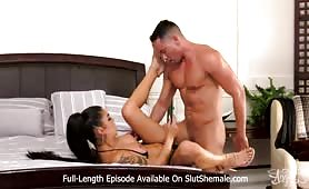 Beautiful shemale fucked by a hot stud