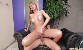 Hot ass shemale knows how to ride a big cock